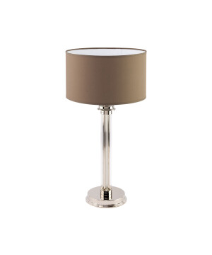 Classic table lamp with glass base Kumbol polished nickel finish