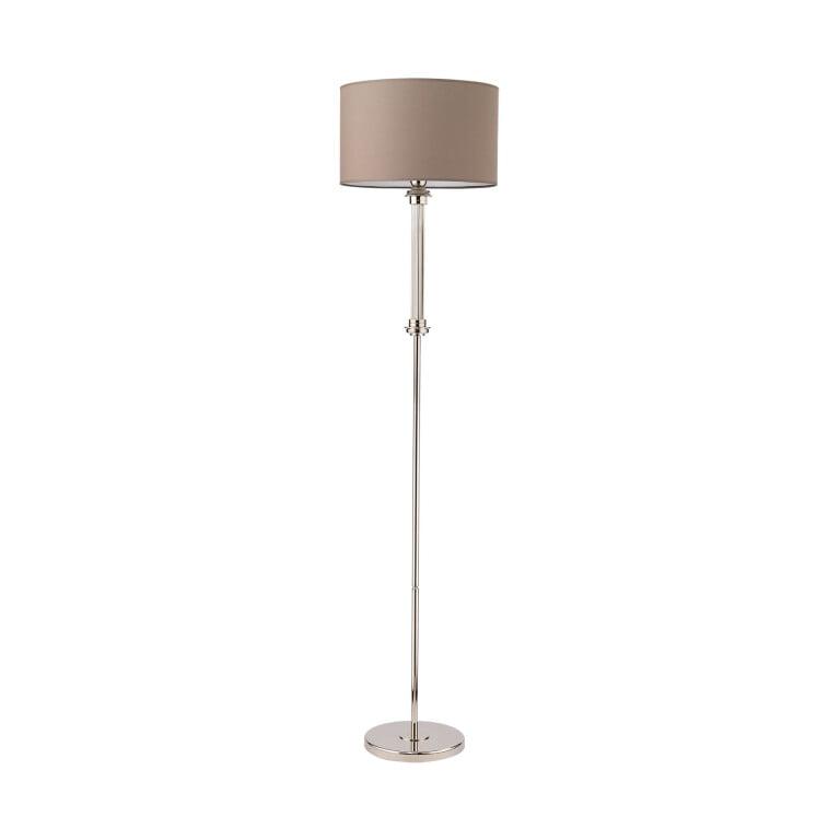 Lighting room BOLT handmade floor lamp brass in polished nickel