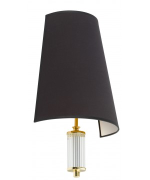 Lighting room PRATO black wall light in gold