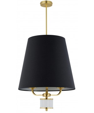 Lighting room PRATO large black pendant 3 lights in gold