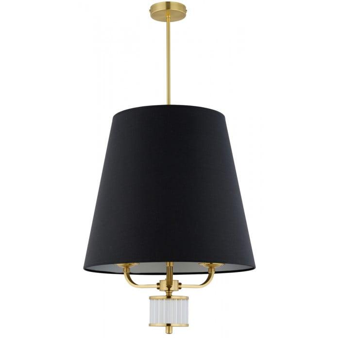 Lighting room PRATO large black pendant 3 lights in gold