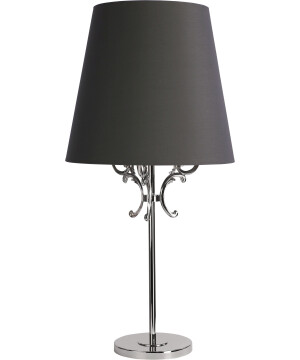 Flor Nickel Grey Table Lamp Fabric Lampshade