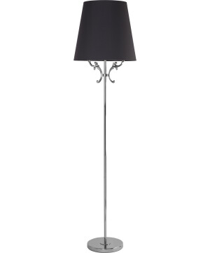 Flor Nickel Floor Lamp Brass Lighting Fabric Lampshade