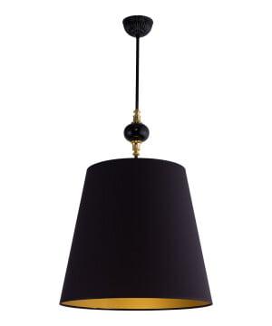 Narni Brass Ceiling Pendant Light Black Lampshade