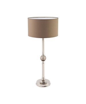 Tivoli Brass Table Lamp Patina Fabric Glass Table Lamp