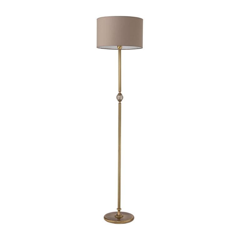 Tivoli Brass Floor Lamp Fabric Lampshade Glass Lights
