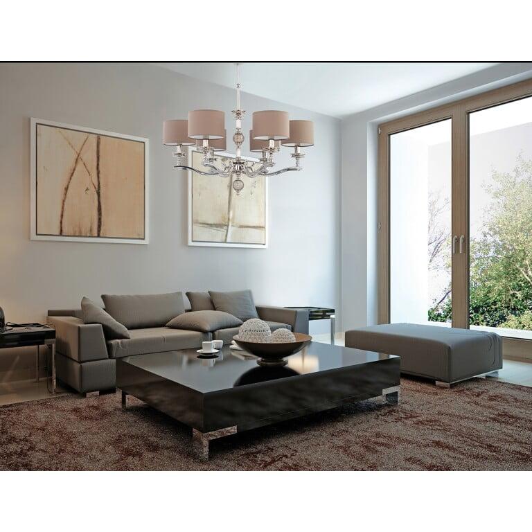 Tivoli Brass Chandelier 6 Arms Glass Ceiling Pendant Light Inspiration