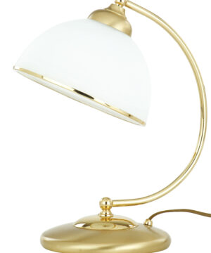 VITO Brass Desk Lamp White Glass Shade Office Gold Lamp