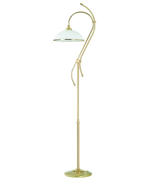 VITO Brass Luxury Floor Lamp White Glass Shade Gold Standing Floor Lamp