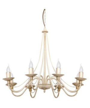 Cream ROSE 8 Arms Chandelier TRADITIONAL DESIGN