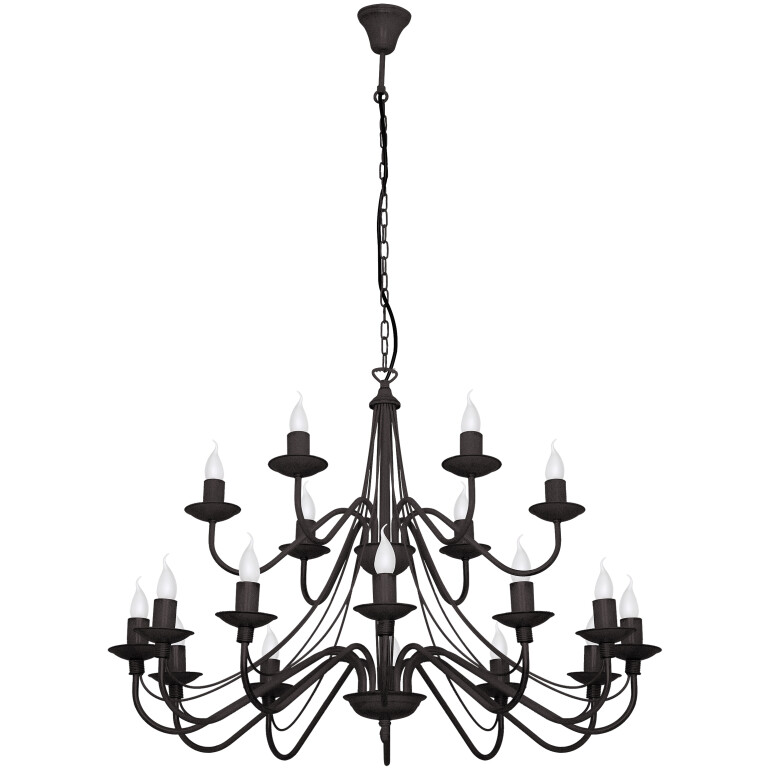ROSE 18 Arms CANDLE-STYLE Chandelier DOUBLE TIER -0