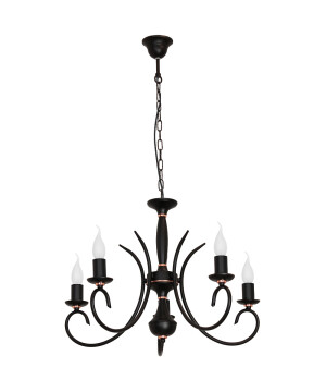 Black ATUT Rustic Black Chandelier 5 Arms