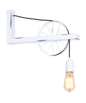 White Industrial Light BANG MIN Loft Wall Light White