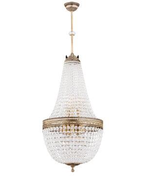 Bespke lighting Arezzo NEW crystal chandelier in brushed brass