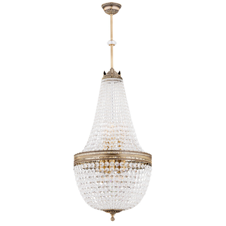 Bespke lighting Arezzo NEW crystal chandelier in brushed brass