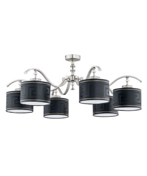 low ceiling crystal chandelier AVERNO 6 light I Versace shade