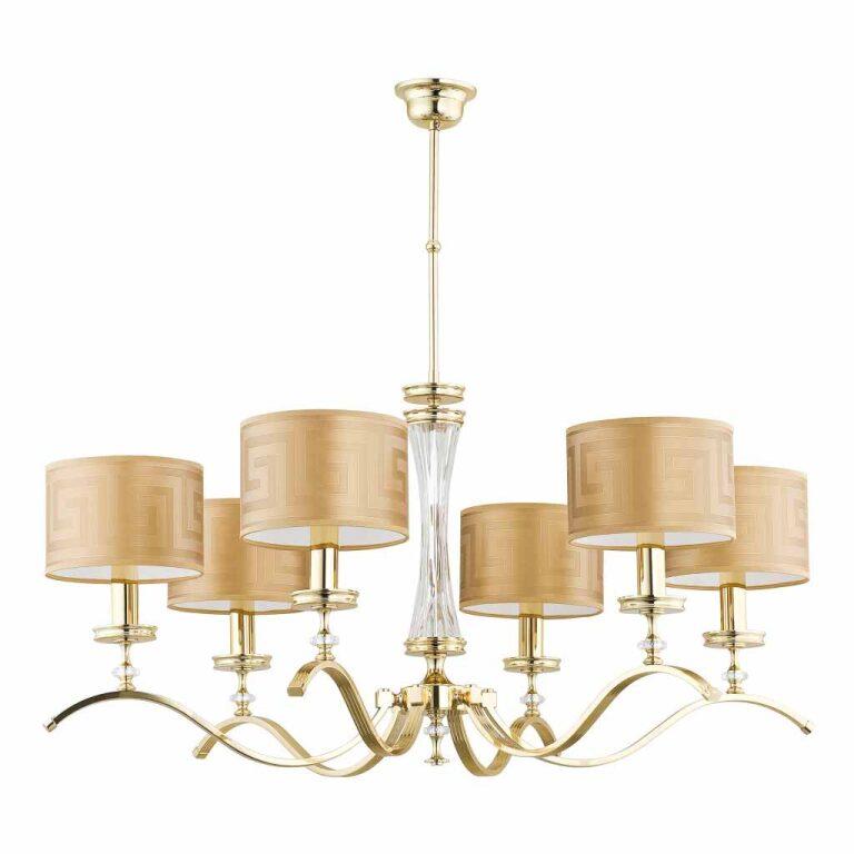 Bespoke lighting AVERNO 6 light traditional gold chandelier Versace