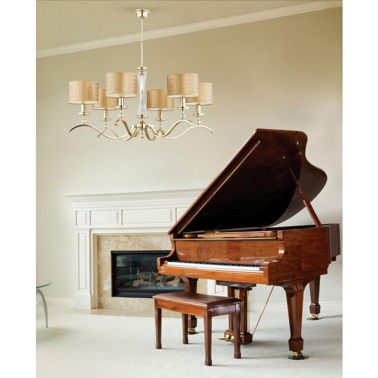 contemporary living room chandelier AVERNO Versace 6 light