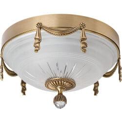Bespoke lighting BACCARA 3 light flush ceiling light brushed brass