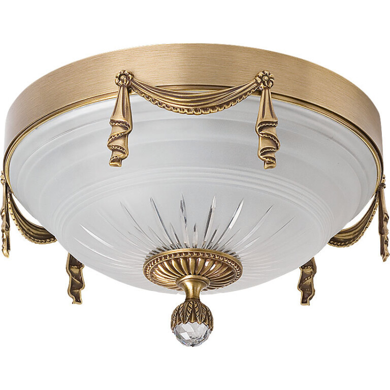 Bespoke lighting BACCARA 3 light flush ceiling light brushed brass