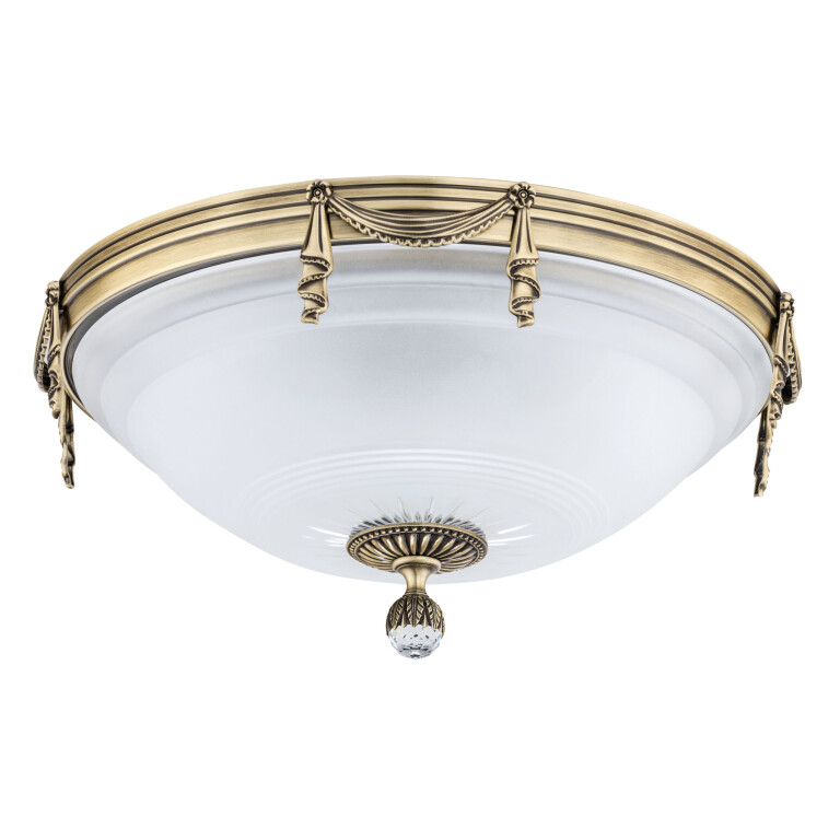 Bespoke lighting BACCARA 4 light brushed brass flush ceiling light