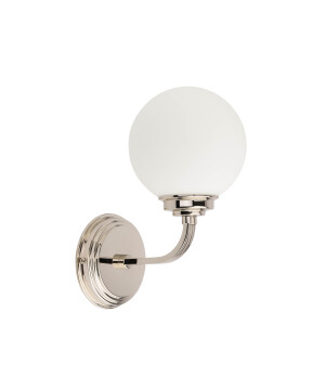 Abano Brass Wall Light Modern White Glass Wall Sconce Light