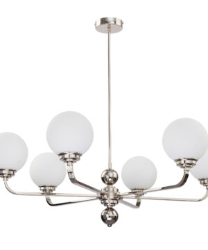 Abano Modern Brass Chandelier 6 Arms Glass Pendant Lights