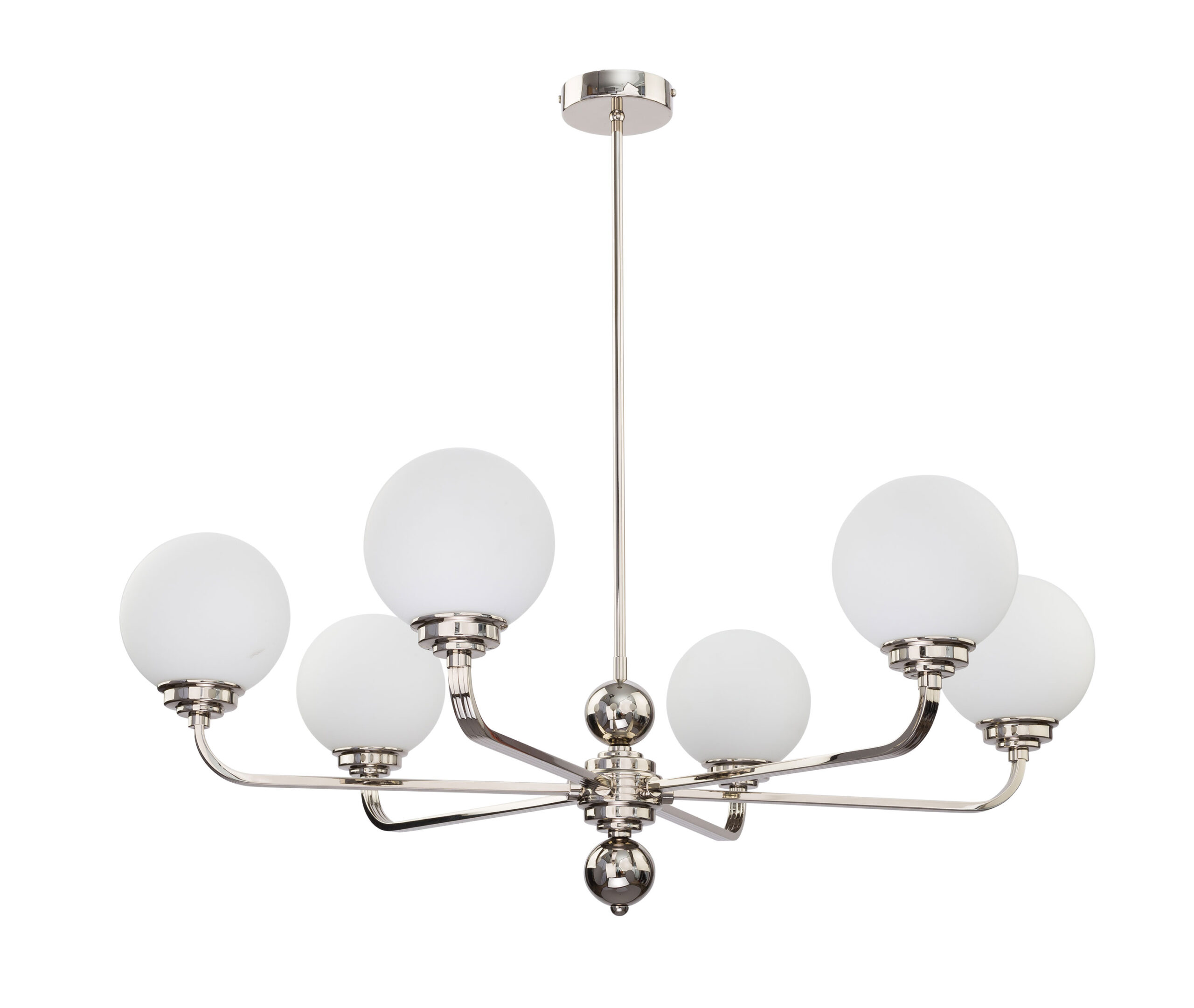 Lighting room ABANO 6 light modern luxury chandelier in gold with black shades