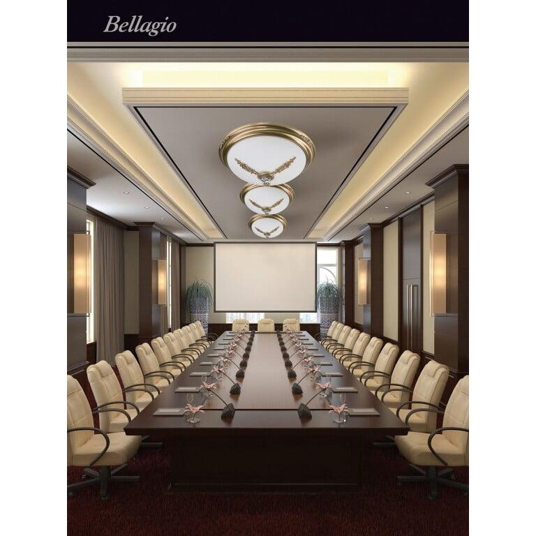 BELLAGIO Decor Brass Ceiling Lighting 470 Swarovski Crystals Flush Ceiling Light Fitting Inspiration