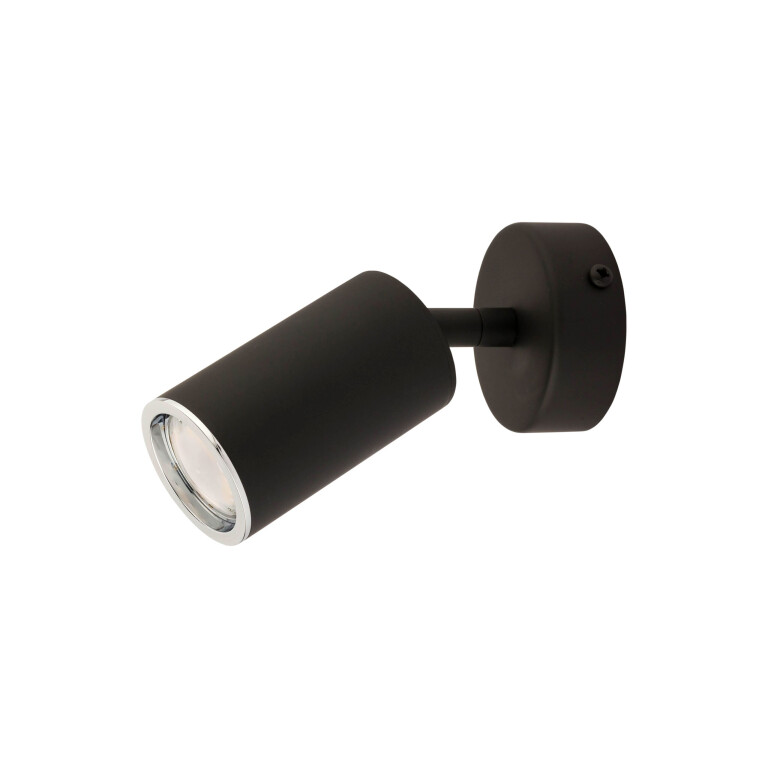 Lighting room DESIO black LED wall light movable