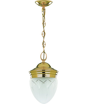 OPERA Unique Brass Pendant Light White Glass Shade
