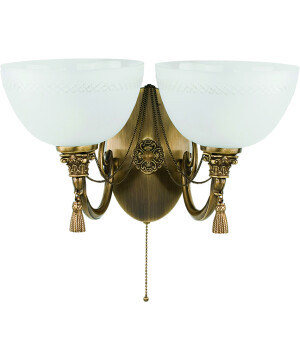 roma patina brass sculpture double wall light glass shade wall sconce light swarovski crystals