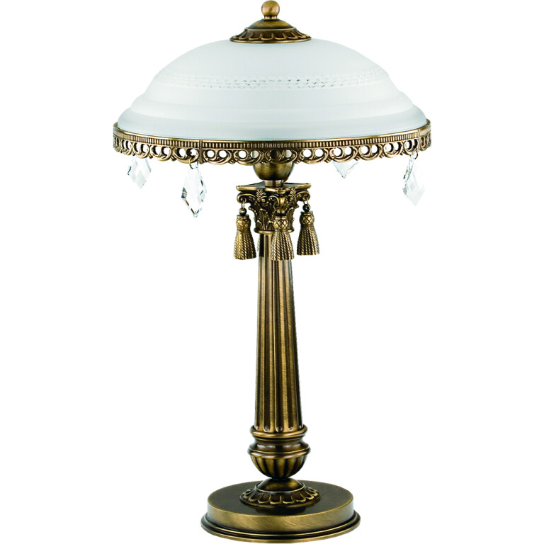 roma patina brass sculpture luxury table lamp slass shade with swarovski crystals classic design