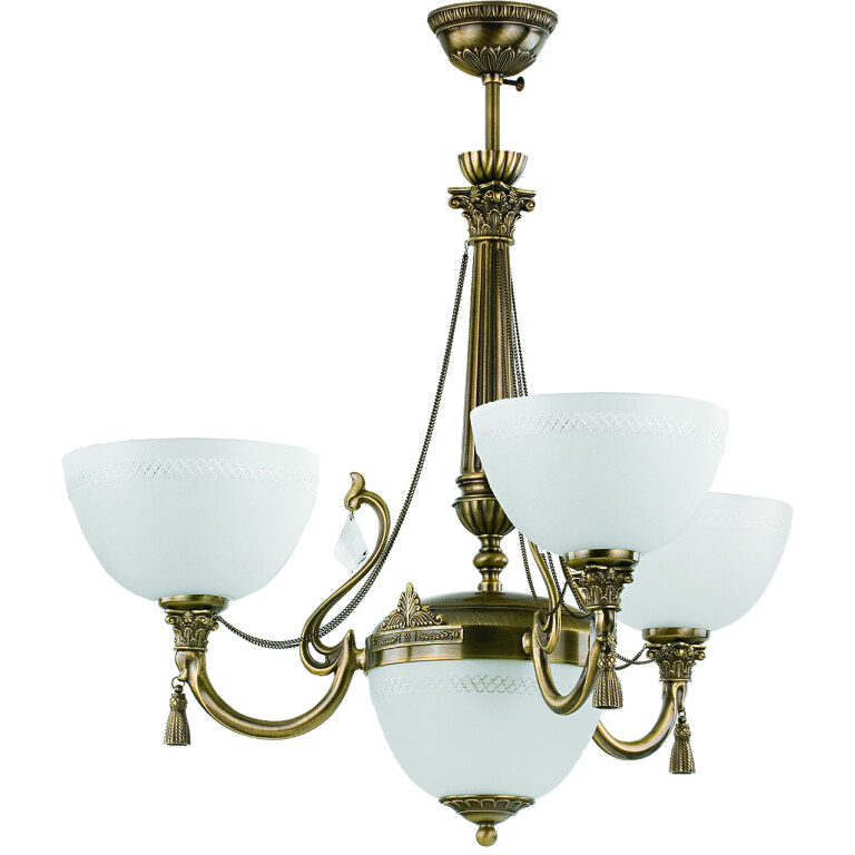 roma patina brass sculpture luxury chandelier 3 arms white glass shade with swarovski crystals