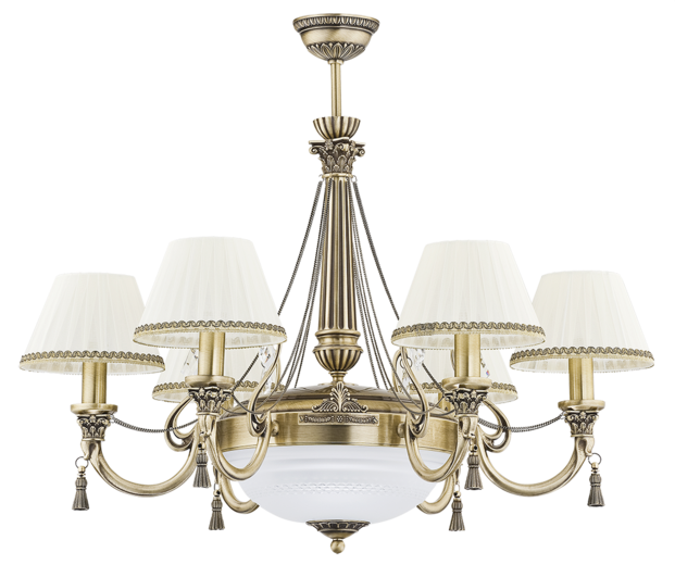roma patina brass sculpture large luxury chandelier 6 arms royal palace fabric shade swarovski crystals