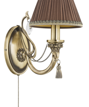 roma antique wall light fabric shade wall sconce light with swarovski crystals