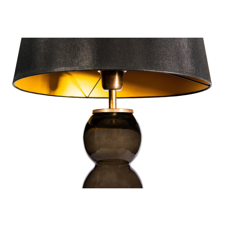 Flor Grey Glass Table Lamp-1600