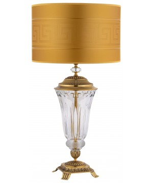 large crystal table lamps ESTI brushed brass I Versace gold shade