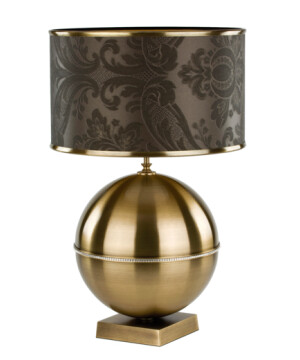 KIARA Swarovski Crystals Table Lamp Brass Bedside Table Lamp