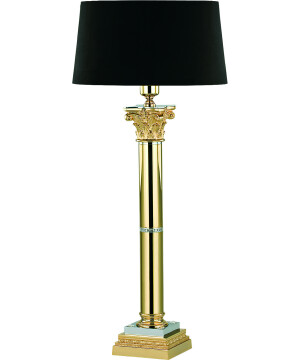 Polished Brass Table Lamp VERA Chiseled Table Lamp