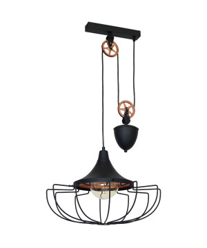 Industrial Pendant Lighting DANTON Copper Lofty Light Large-0