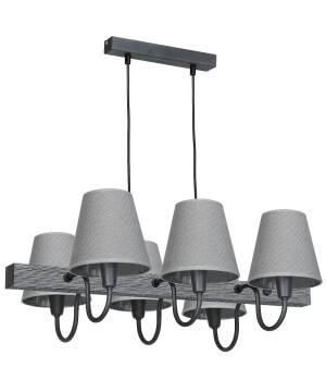 Rustic BAR CEILING Pendant Light THOR 6 Lights Grey-0