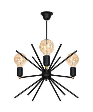 BLACK CEILING Pendant 3 Light Astra MODERN DESIGN -0
