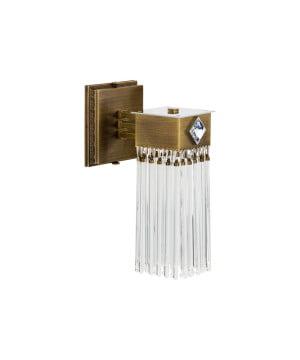 Bespoke lighting CARINO luxury wall light with glass shade