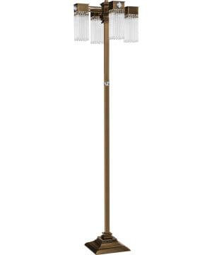 Bespoke lighting CARINO antique brass floor lamp 4 lights