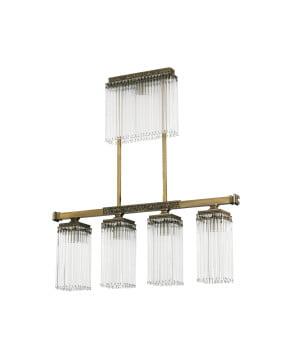 Bespoke lighting CARINO 4 bar pendant light with glass shades