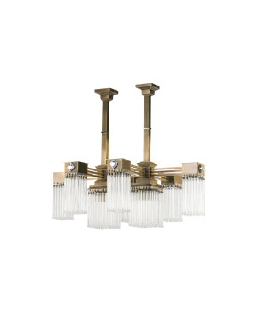 Bespoke lighting CARINO 8 light brass chandelier with Swarovski Crystals