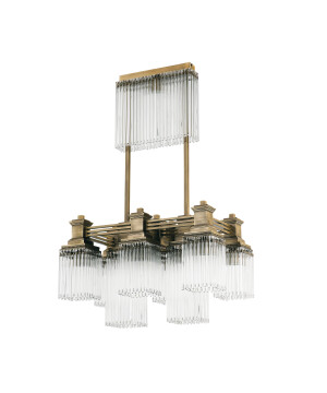 Bespoke lighting CARINO 9 lights bar pendant lighting with glass shades