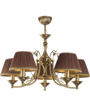 Bespoke lighting CASAMIA 5 light chandelier with fabric shades