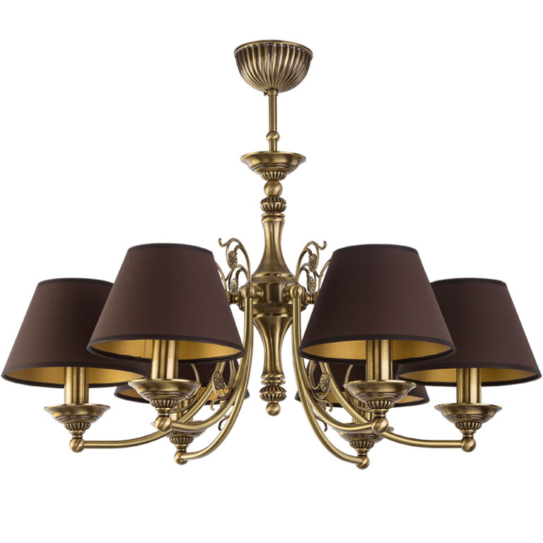 Bespoke lighting CASAMIA traditional chandelier 6 light with shades